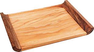 Деревянный Поднос Маленький С Бортиками Прямоугольный PORSHEN  Из Ясеня И Ореха 23 х 34 см (Р 001DP)