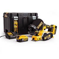 Аккумуляторный рубанок DeWALT,18В,5 Ач,XR Li-lon,15000 об/мин,2мм,3,1 кг,2 аккум,ЗУ,чемодан, шт