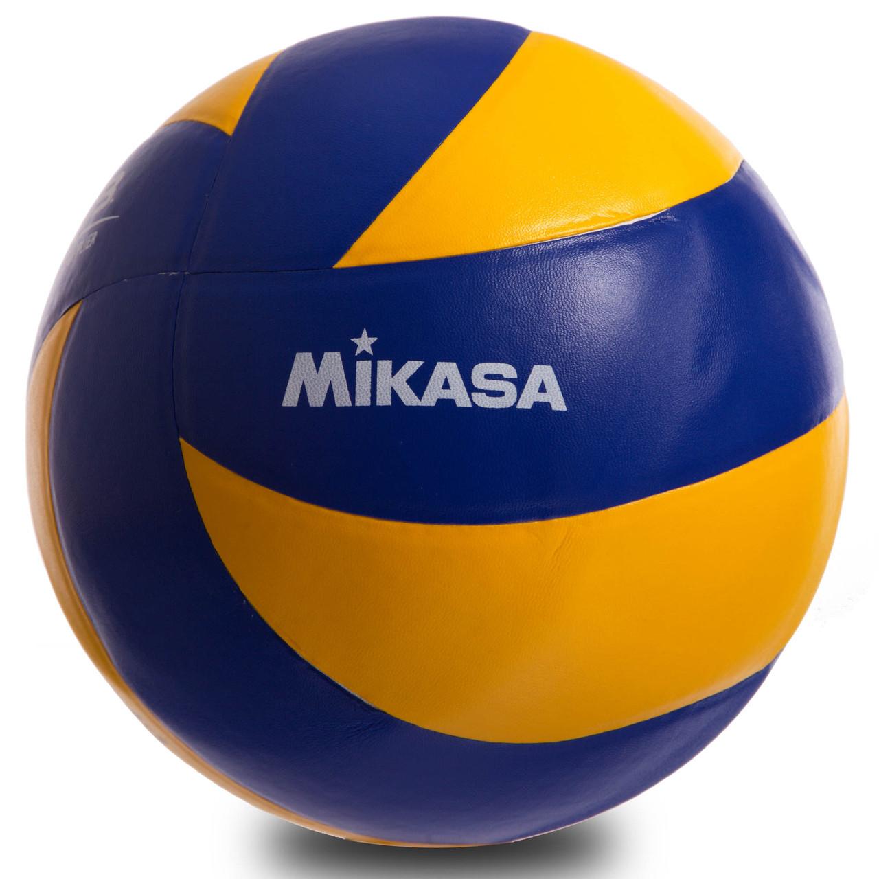 Мяч волейбольный Клееный PU МИКАСА (клееный)