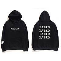 Худи I Feel Like Pablo / Paranoid серое с лого, унисекс (мужское, женское, детское)