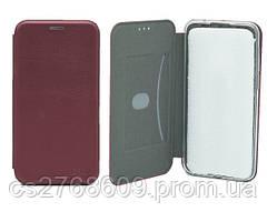 "Книжка ""MANOSS"" slim Samsung J500, J5 2015 бордовий"