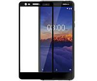 Защитное стекло захисне скло Nokia 3.1, Nokia 3 2018 чорний 5D без упаковки