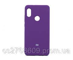 "Силікон ""Silicone Case Original"" Xiaomi Redmi Note 5, Note 5 Pro фіолетовий закритий низ"