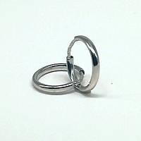 Серьги кольца из серебра 925 пробы.