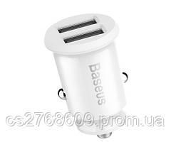 """Автомобільний зарядний пристрій USB (МР3) Baseus """"CCALL-ML02"""" (2 USB, 3.1A) (white)"""
