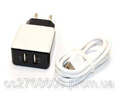 """Мережевий зарядний пристрій + USB """"Aspor"""" A811 iphone 5/6 (2USB/2.1A)"""
