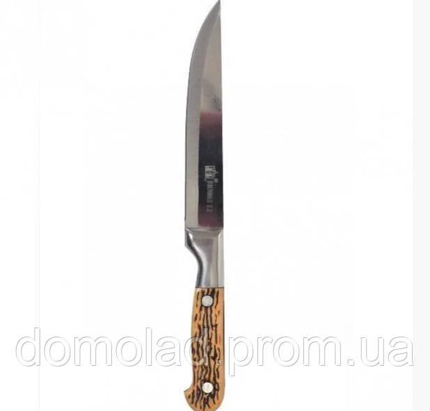 Кухонный Поварской Нож К333 С Пластиковой Рукоятью И Широким Лезвием