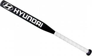 Бита бейсбольная подарочная Avtotrend с логотипом Acura Белая с черной рукояткой +Чехол