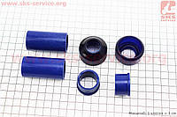 Ремонтный комплект передней вилки Suzuki AD - втулки 4шт под шток 22,0мм + пыльники 2шт