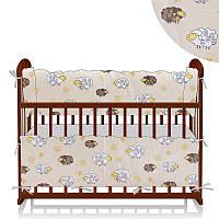 Защита в кроватку Овечка и цветы - молочный ТМ Беби-Текс - 218890
