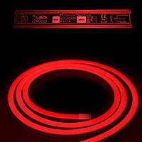 Комплект уличный (IP67) Неон светодиодный красный SMD2835 12V длина 5м, блок питания, коннекторы (20935/20692)