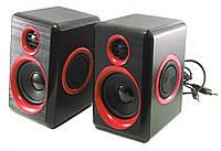 Колонки для ПК компьютера F&T FT-165 Black Red