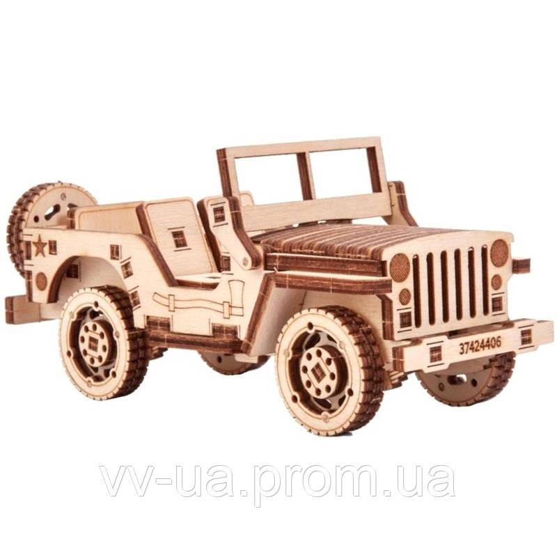 Механический 3D-пазл Wood Trick Джип (4820195190463)