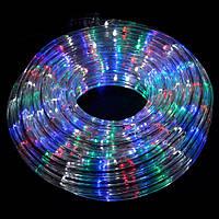 Гирлянда дюралайт светодиодная лента круглый шланг 7191, Rgb, 18м с контролером на 220в (Микс)