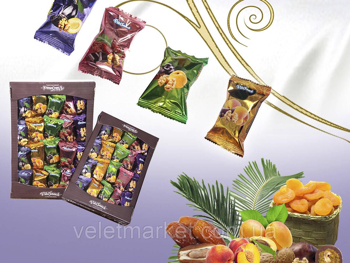Конфеты VikiSnack сухофрукты с орехом Ассорти 4в1 1,5 кг