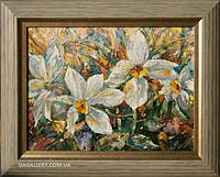 Картина маслом цветы Нарцисы