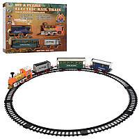 ЖД 238  локомотив19см, вагоны 3шт, зв, св, 39дет, на бат-ке, в кор-ке, 42-34-7,5см