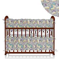 Защита в кроватку Единорог - Серый ТМ Беби-Текс - 218882