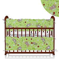 Защита в кроватку Мишка и пузыри - Зеленый ТМ Беби-Текс - 218888