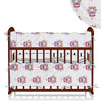 Защита в кроватку Принцесса фея Белый - ТМ Беби-Текс - 218891