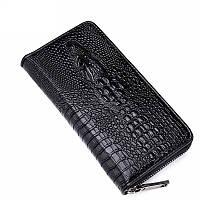 Мужской кошелек-портмоне  Alligator черный, фото 1
