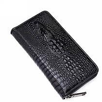 Мужской кошелек-портмоне  Alligator черный