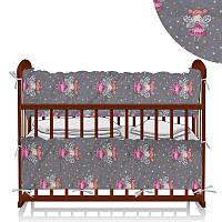 Защита в кроватку Принцесса фея Серый - ТМ Беби-Текс - 218892