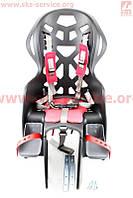 Сиденье для перевозки детей пластмассовое заднее, крепл. на багажник, пятиточечный ремень безопасности, BC-195