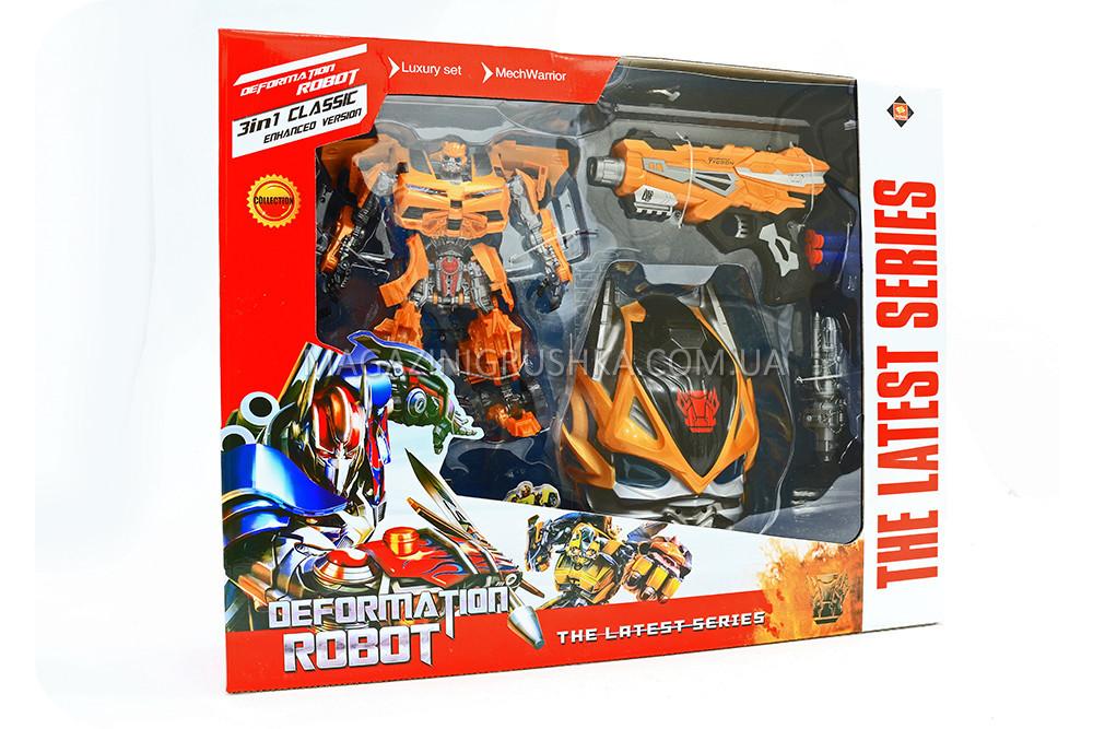 Трансформер-робот «Праймбот» - БамблБи (робот, маска, шутер с мягкими патронами) 8821A