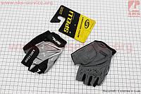 Перчатки детские без пальцев 2XS-черно-серо-белые, с мягкими вставками под ладонь SKG-1553