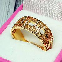 Женское кольцо, медицинское золото Xuping. Размер 17, фото 1