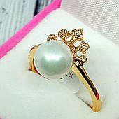 Женское кольцо, жемчуг, медицинское золото Xuping