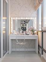 Стол для визажиста, гримерный с зеркалом и подсветкой СВ-2