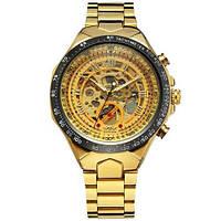 Наручные часы Winner 8067 Gold-Black-Gold Red Cristal Механика с автоподзаводом Оригинал