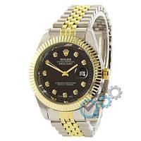 Наручные часы Rolex Date Just Silver-Gold-Black