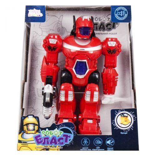 """Функциональный робот """"Бласт"""" на украинском языке (красный) UKA-A0108"""
