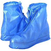 Бахилы для обуви от дождя снега грязи 2Life XXL многоразовые с молнией и шнурком-утяжкой Голубые (nr1-389)