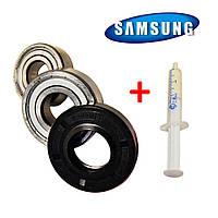 Комплект подшипников и сальник (6203+6204+25*50,55*10/12) для стиральной машины Samsung