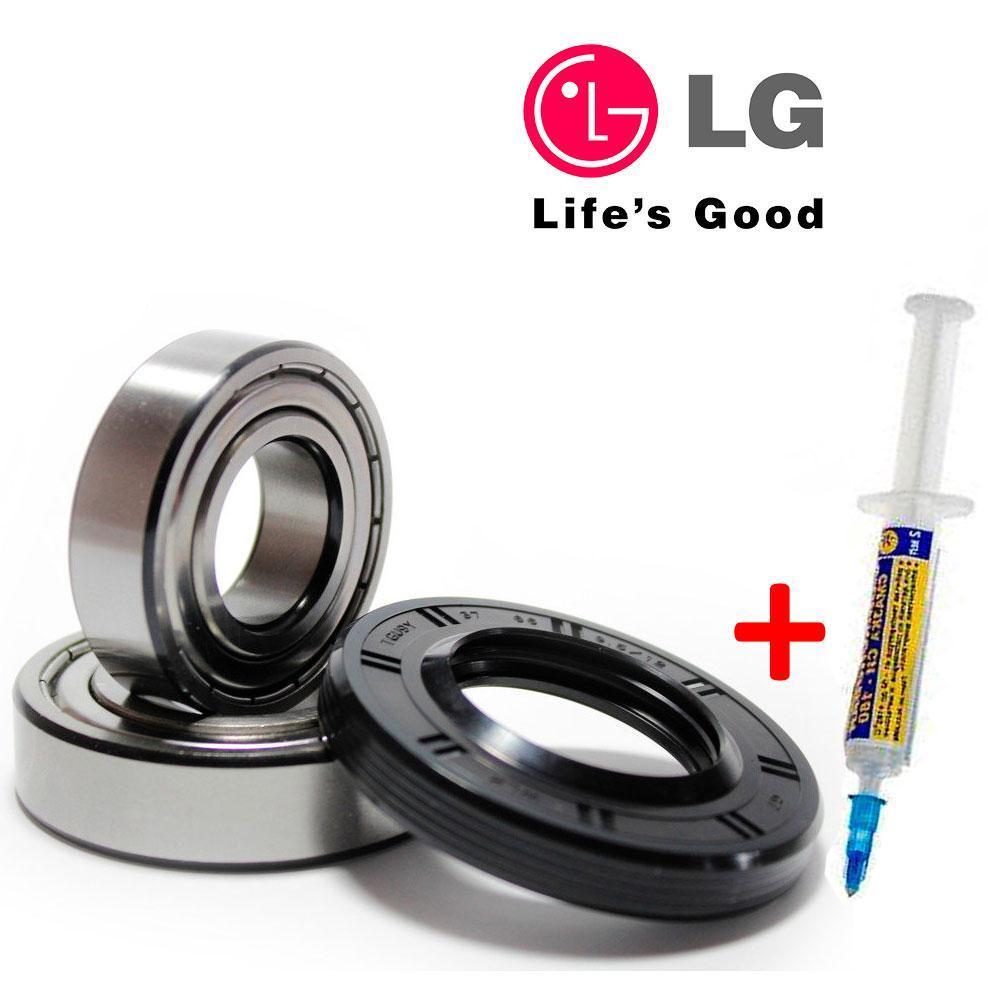 Комплект подшипников и сальник (6205+6206+37*66*9.5/12) для стиральной машины LG