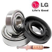 Комплект подшипников и сальник ( 6305+6306+37х76х9,5/12 ) для стиральной машины LG на 8кг