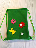 Новогодний подарочный мешочек-рюкзачок  из фетра (подарочный мешочек, подарочный пакет), фото 2