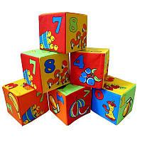 """Набор мягких кубиков 6 штук """" Цифры"""" Умная игрушка"""