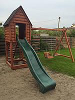 Детская игровая площадка, площадка для детей с пластмассовым спуском п9