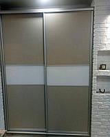 Двери-купе с Дсп и крашенным стеклом, фото 1