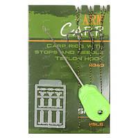 Поводок карповый+игла+стопора Fishing ROI Arm Carp Hook 8340 №2 25lb 3шт