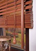 Бамбуковые жалюзи 50 мм Махагони производство под заказ покупателя