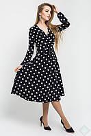 Кокетливое нарядное платье в горошек Айсель, фото 1