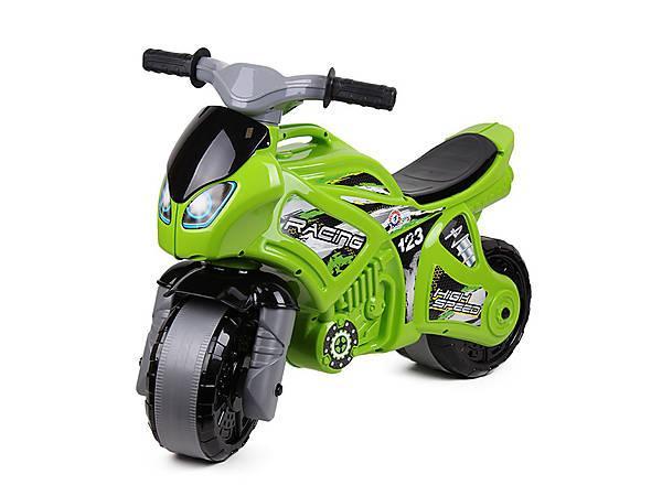 Толокар-мотоцикл Технок 5859 зеленый детская игрушка спортивный байк