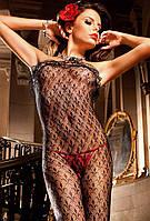 Комбінезон Ruffle Lace Bodystocking від BACI Lingerie