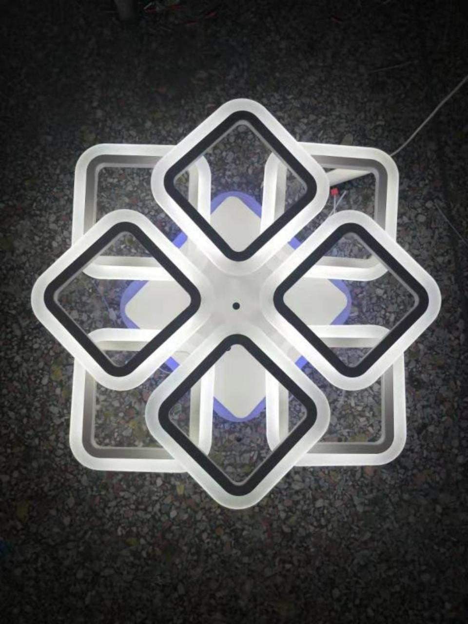 Люстра светодиодная 81760/4+4S в бронзовом цвете.
